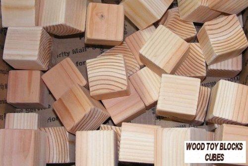 "1.5-Inch Cedar Wood Blocks - Set of 15 Wooden Cubes (Each Is 1 1/2"" Square)"