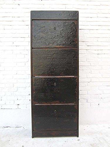 China Alta clásico zapatero-Cómoda Massive Negro Lacado Pino de Luxury Park