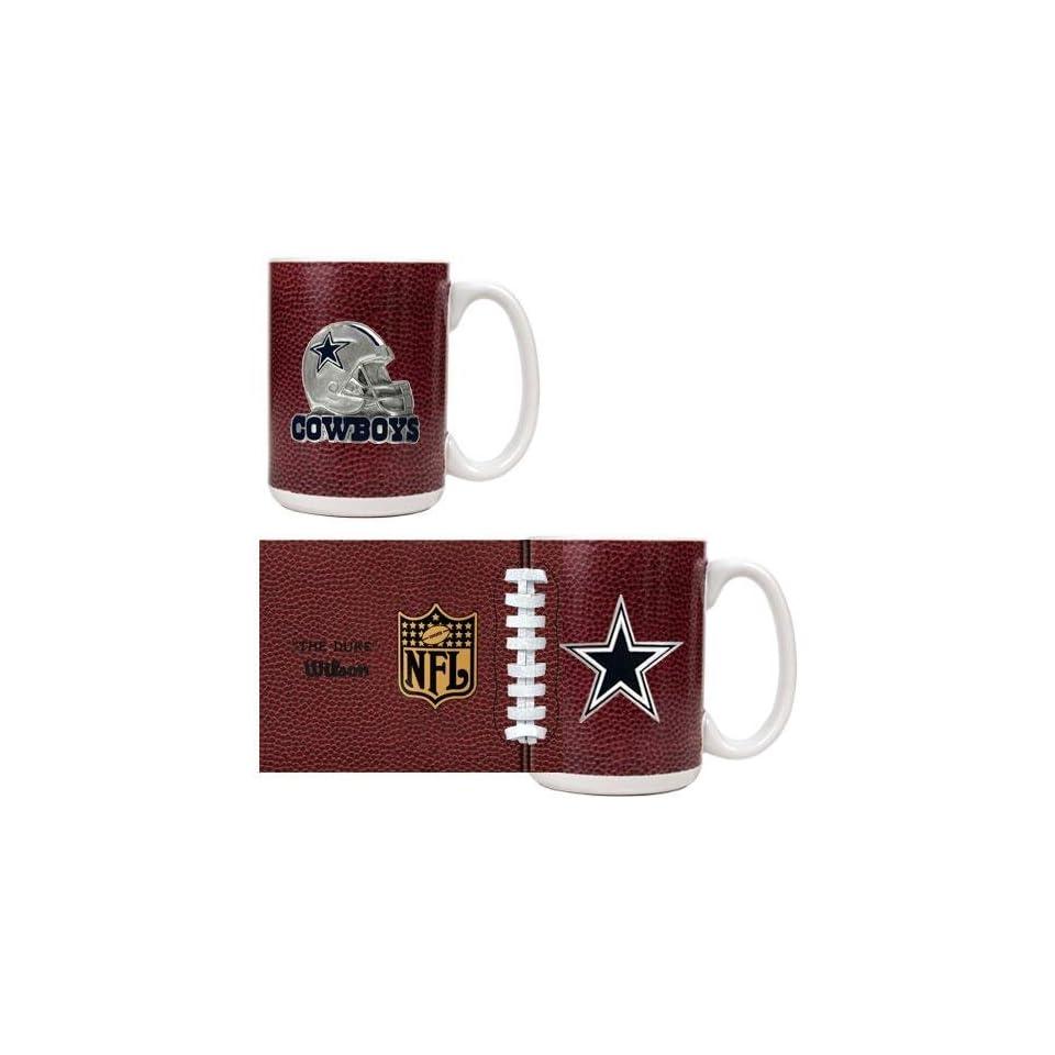 Dallas Cowboys NFL 2pc GameBall Coffee Mug Set   Primary