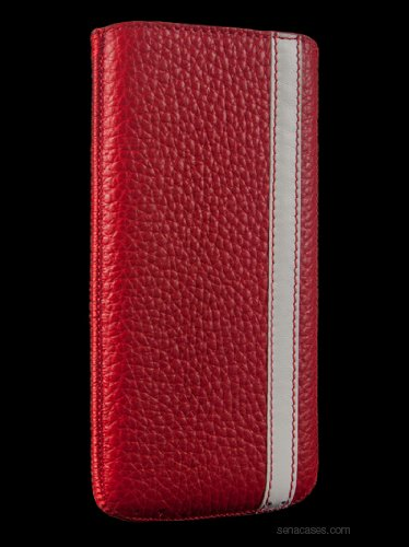 Best Price Sena 827194 Corsa Ultraslim Leather Pouch for iPhone 5 - Red/White