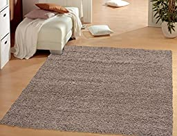 Sweet Home Stores Cozy Shag Collection Solid Shag Rug Contemporary Living & Bedroom Soft Shaggy Area Rug, 60\