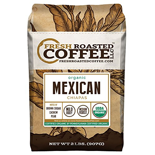 Mexican Chiapas Organic Coffee, Whole Bean, Fresh Roasted Coffee LLC (2 lb.) (Mexican Coffee compare prices)
