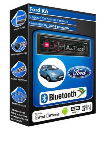 Ford KA autoradio Alpine UTE 72BT-kit mains libres Bluetooth pour autoradio stéréo