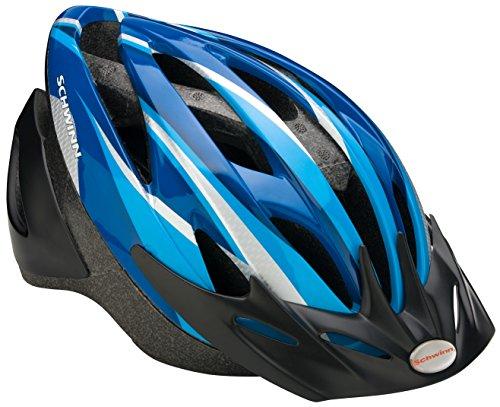 Schwinn Thrasher Youth Microshell Helmet, Blue/Silver