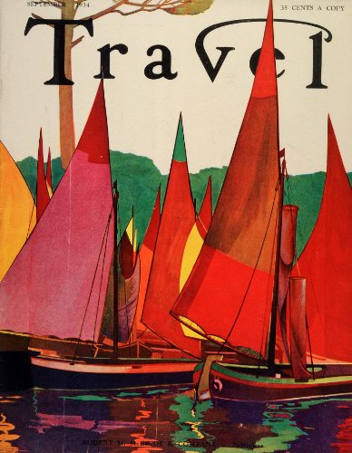 1934 Cover Travel Magazine Fishing Village Italy