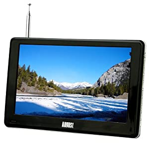 August DA900C 9 Inch Freeview TV & Recorder / Analogue TV / Media Player, supports Red Button Multi-Screen Teletext
