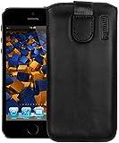 mumbi ECHT Ledertasche iPhone 5 5S 5C Tasche (Lasche mit Rückzugfunktion)