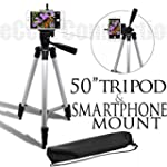 50 Inch Aluminum Camera Tripod + Univ...