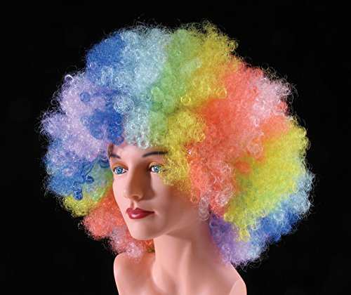 Star Power Ridiculously Huge Clown Afro Wig Rainbow One Size (Adult)