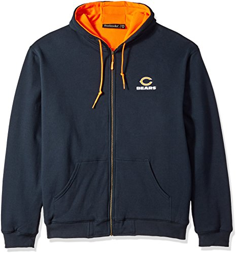 NFL Chicago Bears Craftsman Full Zip Thermal Hoodie, Navy/Orange, 3X-Large (Chicago Bears Hoodie compare prices)