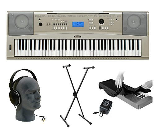 yamaha-ypg235-76-key-keyboard-pack-with-audio-technica-closed-cup-headphones-dust-cover-stand-and-po