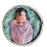 Fanala Newborn Baby Fur Backdrop Flannel Background Blanket