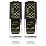2 x Barry M Special Effects Magnetic Nail Varnish Paint - 326 Dark Silver Polish