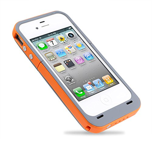 Citra 2000Mah Rechargeable External Battery Case Power Bank For Iphone 4 4S (Orange)