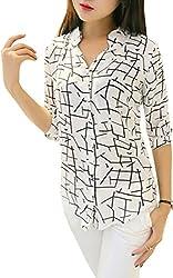 Dheylu creation Women's Top (White_Large)