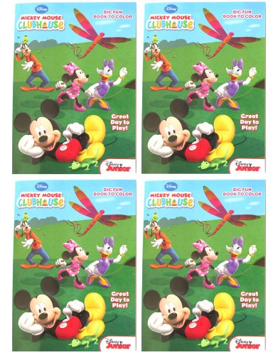 """Mickey Clubhouse (4 Pack) 96 Pg Coloring & Activity Book """"Great Day To Play!"""" Disney Junior front-83965"""