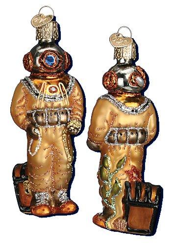 Old World Christmas Deep Sea Diver, 4″ Glass Ornament