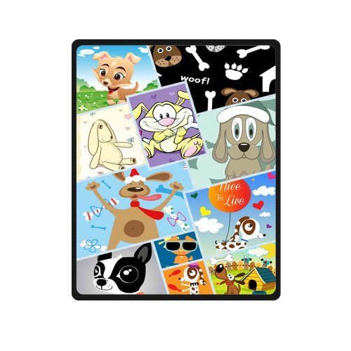 "Personalized Cute Dogs Jigsaw Blanket 40""X 50""(Small) front-1030430"