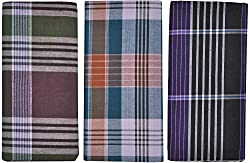SRS Men Cotton Lungi Combo of 3 (Multi-Coloured, )