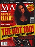 Maxim For Men Magazine May 2001 Eliza Dushku Cover (comes packaged with the 2001 Maxim Hot 100 Supplement)