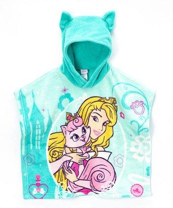 Disney Princess Palace Pets Hooded Poncho (Aurora - Teal)