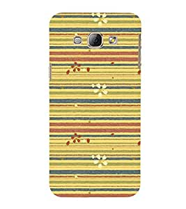 Lines Pattern with Flowers 3D Hard Polycarbonate Designer Back Case Cover for Samsung Galaxy A8 (2015 Old Model) :: Samsung Galaxy A8 Duos :: Samsung Galaxy A8 A800F A800Y