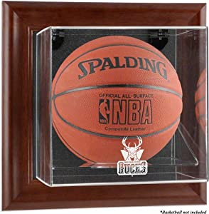 Milwaukee Bucks Framed Wall Mounted Logo Basketball Display Case by Mounted Memories