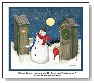 Holiday Outhouses Christmas Shower Curtain