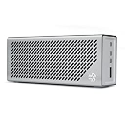 JLab Audio Crasher Loud Portable Bluetooth Stereo Speaker with 18 Hour Battery - Air Aluminum/White