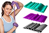 3 Pack Sculpting Fitness Bands - Health Resistance Bands - Toning Workout Exercise Bands