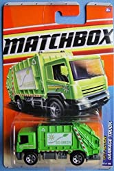 Lime GARABGE TRUCK Matchbox 2011 City Action 66 of 100 Garbage Truck (Go Green) 1:64 Scale Collectible Die Cast Car #66/100