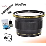 58mm 0.38x HD Fisheye Lens With Macro Attachment For Select Canon Camcorders. UltraPro Bundle Includes: Lens Pen Cleaner Cap Keeper UltraPro Deluxe Cleaning Kit