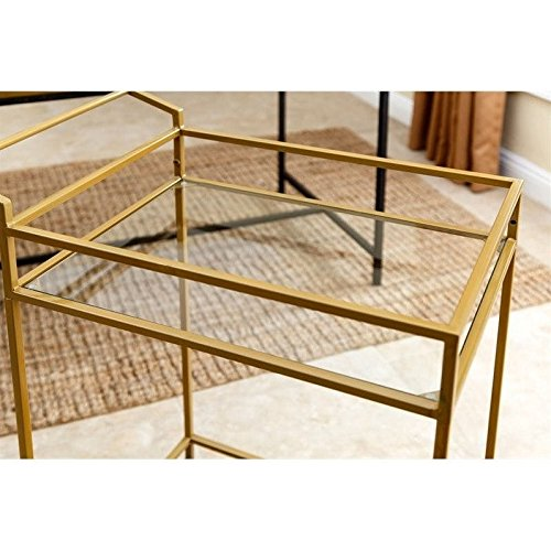 ABBYSON LIVING Marriot Gold Kitchen Bar Cart 4
