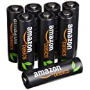 AmazonBasics AA High-Capacity Rechargeable Batteries (8-Pack) Pre-charged