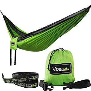 Vitae Explore DuoSwing Double Hammock with FREE Straps and Carabiners
