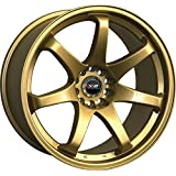 XXR 522 19 Gold Wheel / Rim 5x4.5 & 5x120 with a 20mm Offset and a 73.1 Hub Bore. Partnumber 52290437