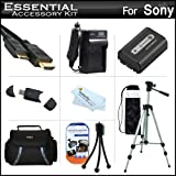 "Essential Accessories Kit For Sony Cyber-shot DSC-HX200V Digital Camera Includes Extended Replacement (1000 maH) NP-FH50 Battery + AC/DC Travel Charger + Mini HDMI Cable + USB 2.0 Card Reader + Deluxe Case + 50"" Tripod w/Case + Screen Protectors + More"
