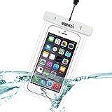 [リベルタ]LIBERTA 防水ケース スマートフォン スマホ 防水カバー 防水ポーチ iPhone6s Plus iPhone5s ネックストラップ付 日本語説明書 ホワイト