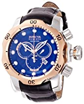 Invicta Venom Chronograph Blue Dial Stainless Steel Mens Watch 13774