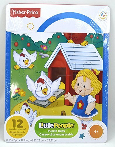 Fisher Price Little People Frame Jigsaw Puzzle - 12 Pieces - Chickens on the Farm (Fisher Price Little People Puzzle compare prices)