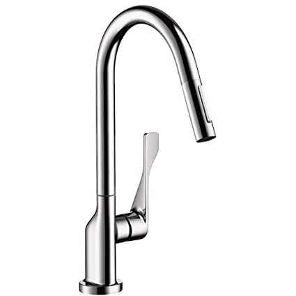 Hansgrohe 39835001 Axor Citterio Pull-Out Spray Kitchen Faucet, Chrome