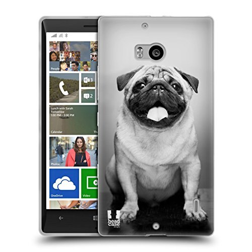Head Case Designs Carlino Carino Razze Famose Di Cani Back Case Cover in Silicone per Nokia Lumia 930 Icon 929