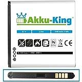 Akku-King Akku für Huawei Honor 2, U9508, Honor Quad, Ascend G615 - ersetzt HB5R1V - Li-Ion 2450mAh
