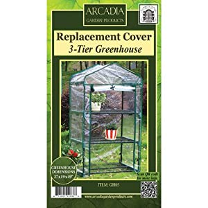 Mini Greenhouse Replacement Cover Size: 3-Tier