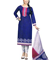 Foram Fashion Women's Cotton Unstitched Dress Material (FF04_Multi-Coloured_Freesize)