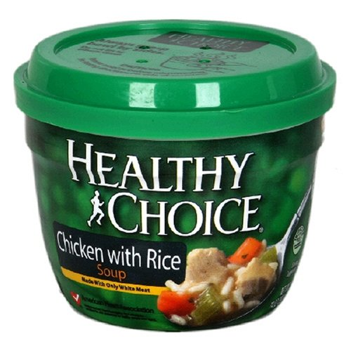 Healthy Choice Chicken with Rice Soup, 14-Ounce Microwave Bowls (Pack of 12)
