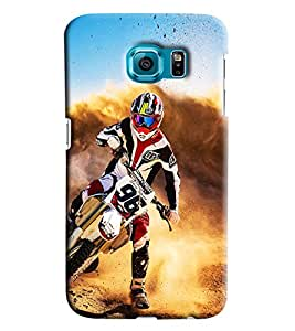 Clarks Super Motor Cross Maddness Hard Plastic Printed Back Cover/Case For Samsung Galaxy S7