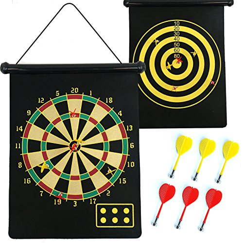 magnetic-dartboard-roll-up-with-6-magnet-darts-double-sided-kids-dart-board-game-fusion-tm
