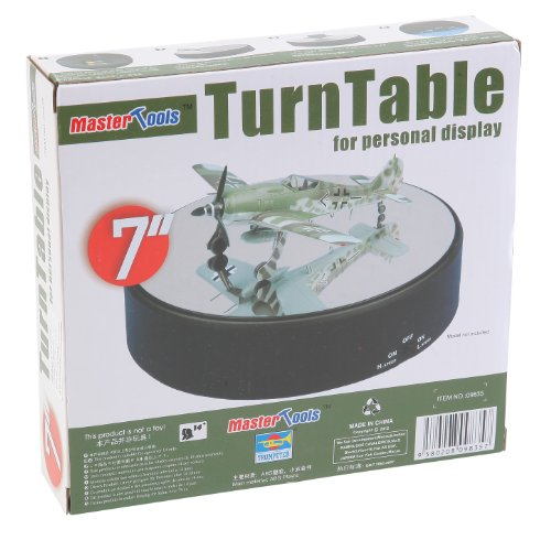 Trumpeter Battery Operated Round Mirrored Display Turntable for Model Kits (Rotating Table Display compare prices)