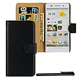 4in1 PREMIUM Wallet Hülle in Schwarz für - Huawei Ascend